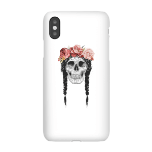 Balazs Solti Skull And Flowers Phone Case for iPhone and Android