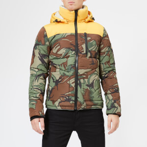 Superdry Men's Expedition Camo Coat - Bold Yellow