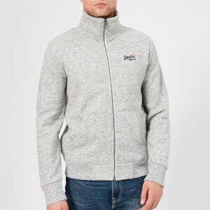Superdry Men's Orange Label Zip Track Jacket - Pacific Grey Grit