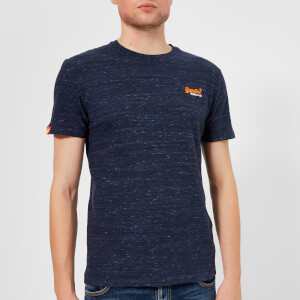 Superdry Men's Orange Label Small Logo T-Shirt - Montana Blue Space Dye