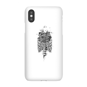 Ribcage And Flowers Phone Case for iPhone and Android