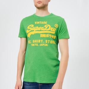 Superdry Men's Shirt Shop T-Shirt - Mitchigan Green Grit