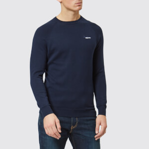 Superdry Men's Orange Label Cotton Crew Neck Jumper - Classic Navy