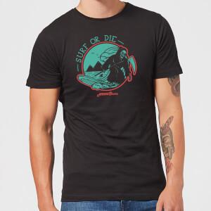 Native Shore Surf Or Die Men's T-Shirt - Black