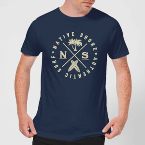 T-Shirt Homme Authentic Surf Circle Native Shore - Bleu Marine