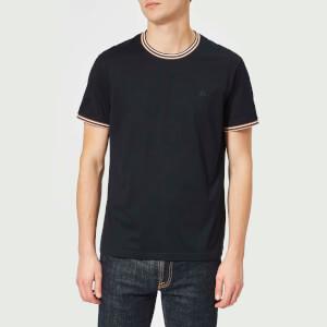 Aquascutum Men's Dorval Vicuna Tipping Short Sleeve T-Shirt - Navy