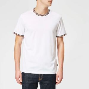 Aquascutum Men's Dorval Vicuna Tipping Short Sleeve T-Shirt - White