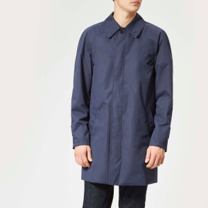 Aquascutum Men's Kenmore Heritage Raglan Raincoat - Blue