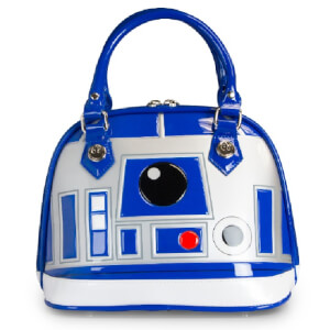 Loungefly Star Wars R2-D2 Patent Dome Bag - Blue/White/Silver