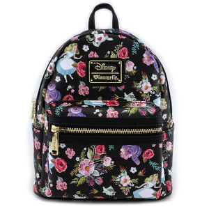 Loungefly Disney Alice in Wonderland Character Floral Print Mini-Backpack
