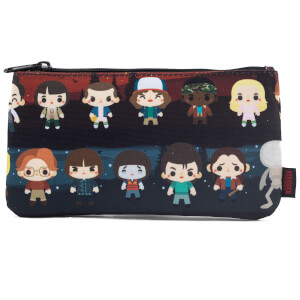 Estuche Estampado Loungefly Stranger Things Personajes Kawaii