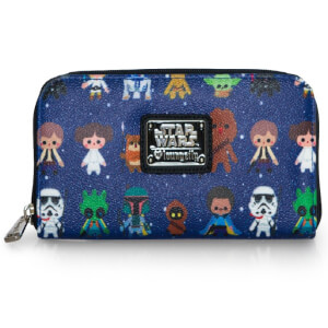 Star Wars Loungefly Cartera Estampada Personajes Kawaii