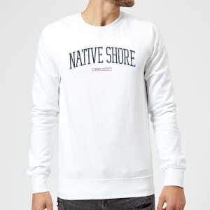 Native Shore Varsity Curved Sweatshirt - White