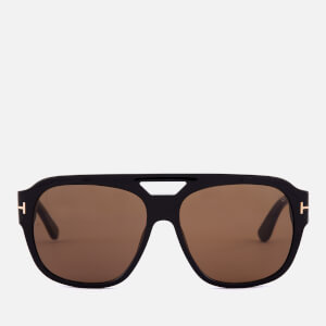 Tom Ford Men's Bachardy Sunglasses - Shiny Black/Roviex