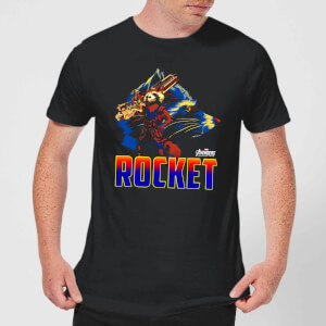 Avengers Rocket Men's T-Shirt - Black