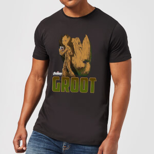 Avengers Groot Men's T-Shirt - Black