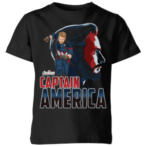Avengers Captain America Kids' T-Shirt - Black