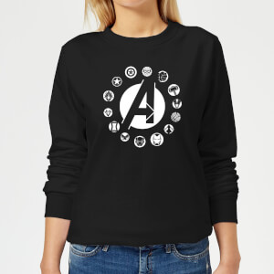 Avengers Team Logo Women's Sweatshirt - Black