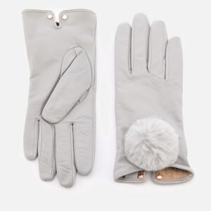 Ted Baker Women's Nacy Pom Pom Leather Gloves - Grey