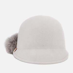 Ted Baker Women's Jaddaa Pom Pom Felt Hat - Grey