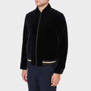 Oliver Spencer Men's Bailey Velvet Bomber Jacket - Navy