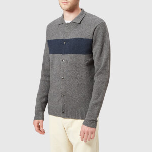 Oliver Spencer Men's Roxwell Knitted Jacket - Swinden Grey/Blue