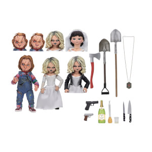 NECA Bride of Chucky Ultimate Chucky- en Tiffany-actiefiguren van 18 cm (2-pack)