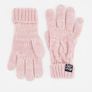 Superdry Women's Arizona Cable Gloves - Sandy Pink Twist