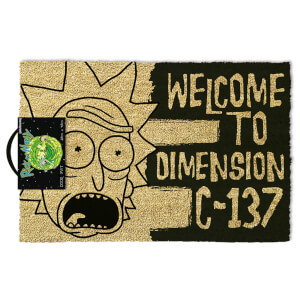 Rick and Morty (Dimension C-137 Black) Doormat