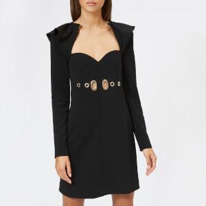 Self-Portrait Women's Drape Back Mini Dress - Black