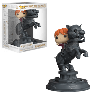 Harry Potter Ron Riding Chess Piece Pop! Movie Moment Figur
