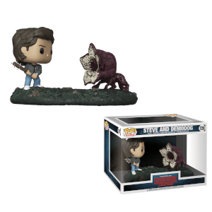 Pack de 2 Figuras Funko Pop! Movie Moments Steve y Demodog - Stranger Things