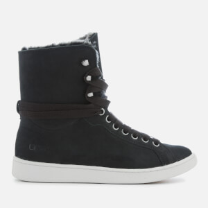 UGG Women's Starlyn Full Grain Leather Fold Over Trainers - Black