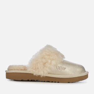 UGG Kid's Cozy II Metallic Slippers - Gold