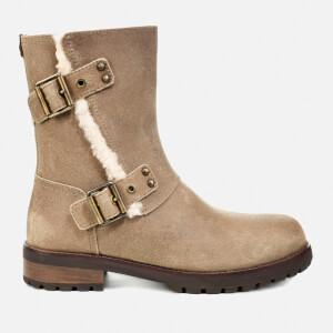 UGG Women's Niels II Water Resistant Leather Biker Boots - Dove