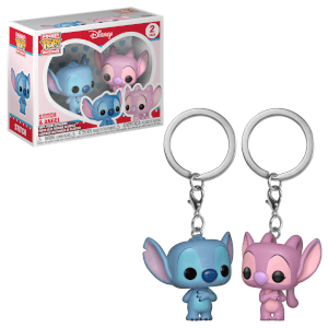 Lilo & Stitch Stitch & Angel Funko Pop! Keychain 2-Pack