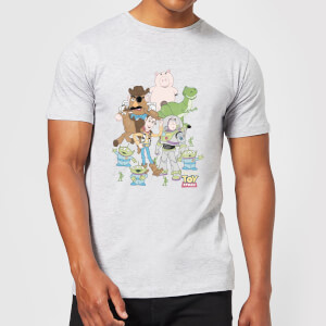 Toy Story Group Shot Herren T-Shirt - Grau