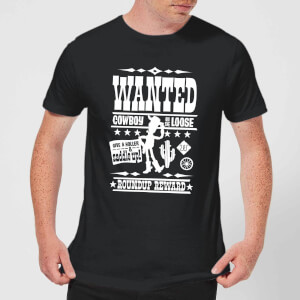 Toy Story Wanted Poster Men's T-Shirt - Black