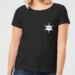 Toy Story Sheriff Woody Badge Women's T-Shirt - Black