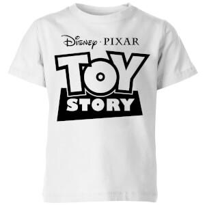 Toy Story Logo Outline Kinder T-Shirt - Weiß