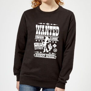 Toy Story Wanted Poster Women's Sweatshirt - Black