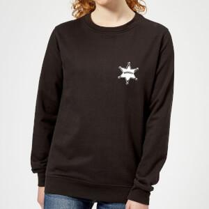 Toy Story Sheriff Woody Badge Women's Sweatshirt - Black