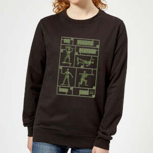 Toy Story Plastic Platoon Women's Sweatshirt - Black
