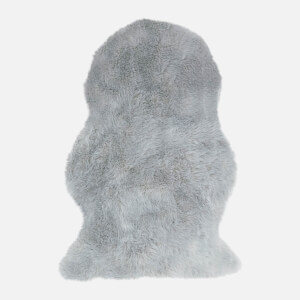 in homeware Auckland Faux Sheepskin Rug - Silver
