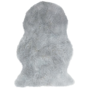 Asiatic London Auckland Faux Sheepskin Rug - Silver