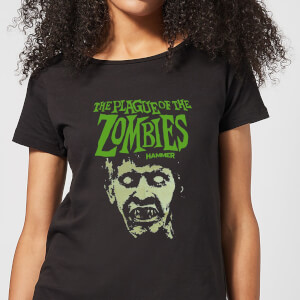 Hammer Horror Plague Of The Zombies Portrait Women's T-Shirt - Black