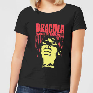 T-Shirt Hammer Horror Dracula Prince Of Darkness - Nero - Donna