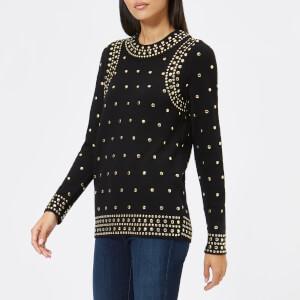 MICHAEL MICHAEL KORS Women's Studded Sweatshirt - Black
