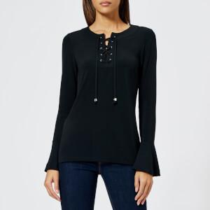 MICHAEL MICHAEL KORS Women's Solid Lace Up Top - Black