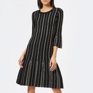 MICHAEL MICHAEL KORS Women's Stitch Flare Dress - Black/Gold